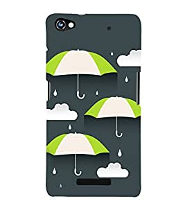Rain and Umbrella 3D Hard Polycarbonate Designer Back Case Cover for Micromax CanvasHue2A316
