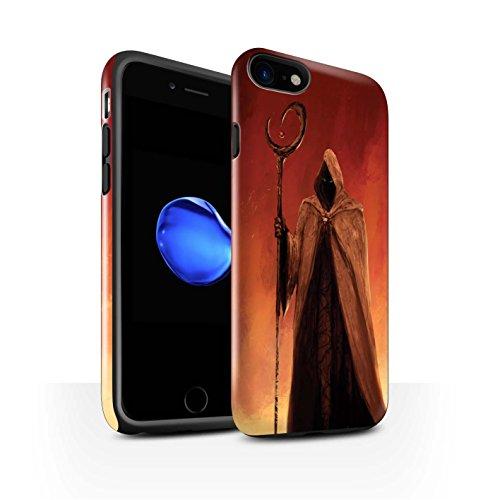 Offiziell Chris Cold Hülle / Glanz Harten Stoßfest Case für Apple iPhone 7 / Dunkelste Stunde Muster / Dämonisches Tier Kollektion Gevatter Tod