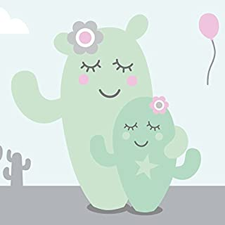 anna wand® - Self-Adhesive Wall Border - 450 x 11.5 cm - Family Cactus Design for Children's Bedroom
