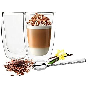 tchibo cafissimo latte macchiato gl ser tassen 2er set doppelwandig thermoglas. Black Bedroom Furniture Sets. Home Design Ideas