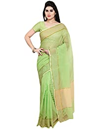 db28762952f596 Applecreation Women'S Super Net Saree With Blouse Piece (Pista Green_Free  Size )