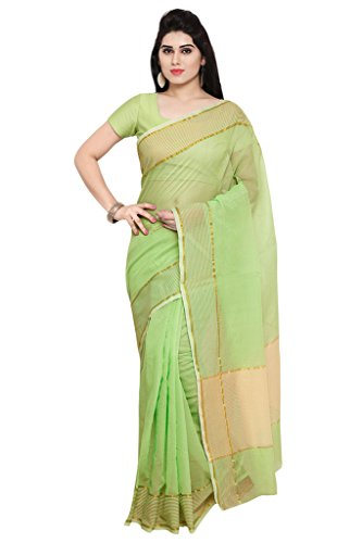 Applecreation Women\'S Super Net Sarees New Collection (Pista Green_Nyk103_Free Size)
