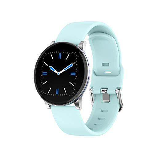 iCerber Smartwatch Wasserdicht IP68 Smart Watch Uhr mit Pulsmesser Fitness Tracker Intelligente Armbanduhr mit Schrittzähler Schlaf-Monitor SMS Benachrichtigung Push kompatibel für Android und iOS