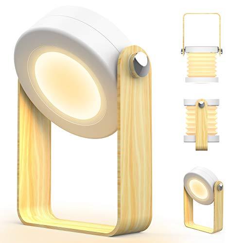 Luz Nocturna,Zttopo Luz Lectura,linterna Regulable Lámpara de Noche Brillo Ajustable de 3 Modos Lámpara de Tabla de Decoración Flexible Lámpara Giro 360°Portátil Lámpara Nocturna