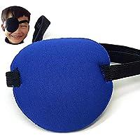 Preisvergleich für Augen-Flecke Lazy Eye Soft-Einzel Piraten-Patch mit Gummiband für Erwachsene und Kinder (blau)