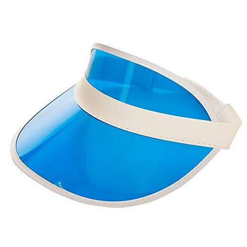 Adults Unisex Blue Pub Poker Golf Visor Hat Fancy Dress Accessory
