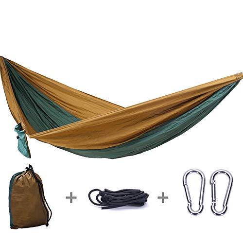 AFFC Camping Hängematte Double Single mit Baumgürtel - Indoor Outdoor-Rucksack für Überleben und Reisen, tragbar, Bergsteigen, Hof, Strand, Reisen,A