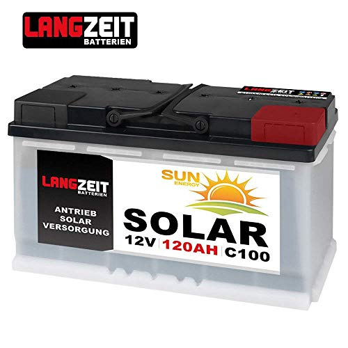 LANGZEIT 120Ah 12V Solarbatterie Boot Marine Wohnmobil Solar Batterie 100Ah Marine Batterie