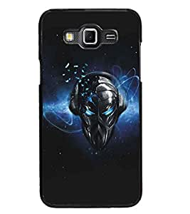 PrintDhaba Mask D-5179 Back Case Cover for SAMSUNG GALAXY GRAND MAX (Multi-Coloured)