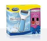 Scholl 3052281 Velvet Smooth Limited Edition Roll-Elektroden mit Nagellack-Set, Blu- 277 g