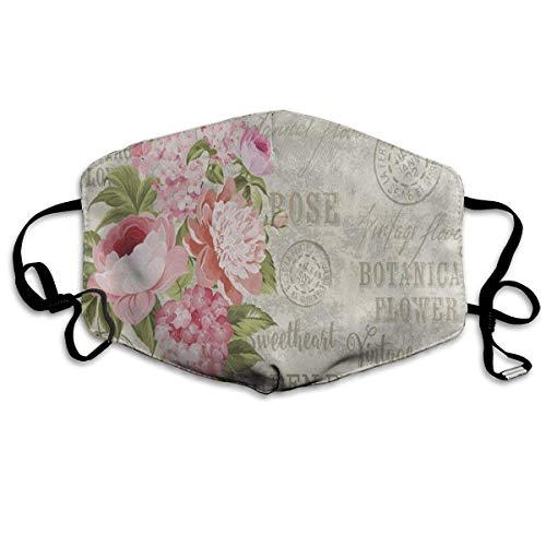 Sdltkhy Dustproof Anti-Bacterial Washable Reusable Flower Garland Shabby Chic Floral Mouth Cover Mask Respirator Germ Protective Breath Healthy Safety Warm Windproof Mask New6