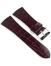 Police Skyline Ersatzband Uhrenarmband Leder Band Rotbraun/Kroko für PL10849MS-12