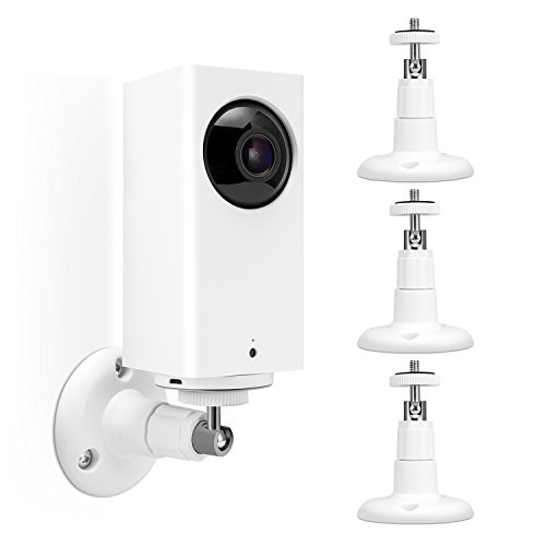 Kupton Wall Mount for Wyze Cam Pan, 360°Swivel Ceiling Mount Bracket Adjustable Indoor and Outdoor Wall Mount for Wyze Cam Pan 1080p Pan/Arlo/ Arlo Pro and Other Camera with Same Interface - 3 Pack