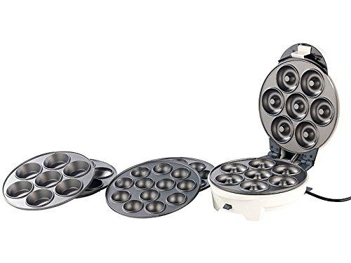 MostroMania - Piastra Antiaderente 3 in1 per Ciambelle, Cupcake, Muffin e Cakepop - Fornello Circolare per Dolci - Utensili da Cucina Originali - Idee Regalo - Regali di Natale