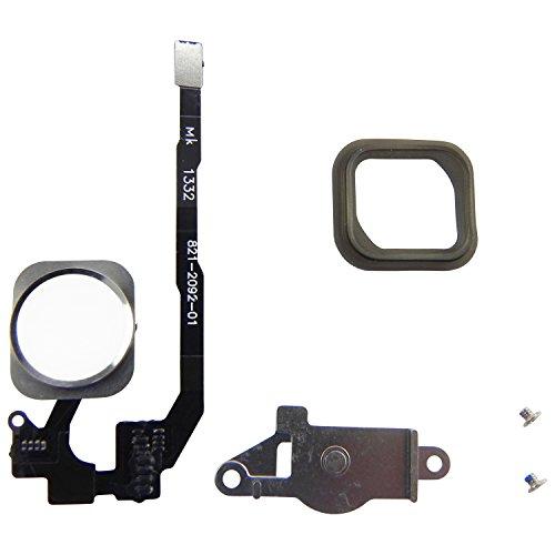 Home Button für iPhone 5S Homebutton + Flexkabel + Halter + Gummi Dichtung + 2x Schrauben 6in1 Weiß - ToKa-Versand®