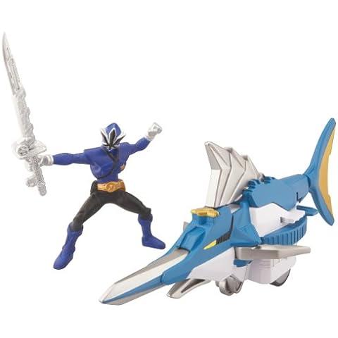 Power Rangers Samurai Súper Swordfish Zord Vehículo Set - Blue