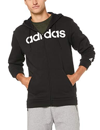 adidas Herren Commercial Full Zip Fleece Kapuzen-Jacke, Black, S -