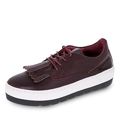 SPM Damen Manga Sneaker Sneakers Rot (Burgundy/Burgundy)