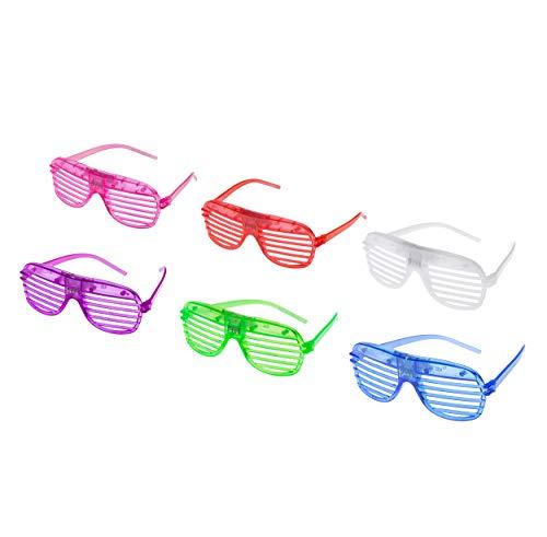 96 Packungen Blinkende LED Shutter Style Brille Glow Slotted Plastic Blinkende Light Up Shades Brillen Sonnenbrillen Für Musikkonzerte Crazy Parties Halloween Christmas Rave