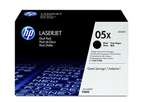 Preisvergleich Produktbild HP 05X Original Toner mit hoher Reichweite (geeignet für HP LaserJet P2055, HP LaserJet P2055d, HP LaserJet P2055dn) 2er Pack, schwarz
