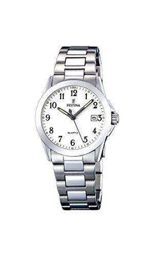 FESTINA F16377/1 - Reloj de mujer de cuarzo, correa de acero inoxidable color plata