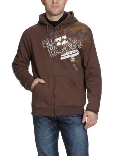 BILLABONG Herren Sweatshirt Zip Hoody Scoop, Coffee, M Billabong Zip-hoody