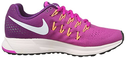 Nike Wmns Air Zoom Pegasus 33, chaussure de sport femme Rose (Fire Pink/weiß/bright Grape)
