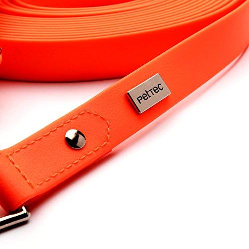 PetTec Schleppleine 10m aus Trioflex – Hundeleine in Orange - 4