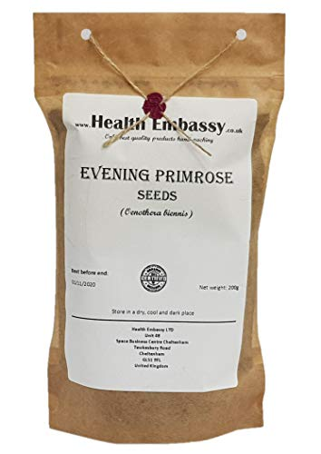 Semi di Enotera (Oenothera Biennis) / Evening Primrose Seeds - Health Embasssy - 100% Natural (200g)