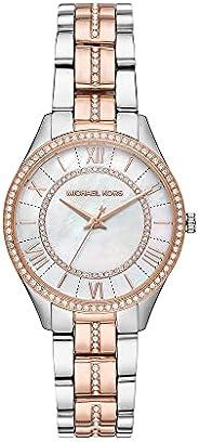 ساعة مايكل كورس كوارتز للنساء بمينا انالوج وسوار ستانلس ستيل موديل MK3979-1