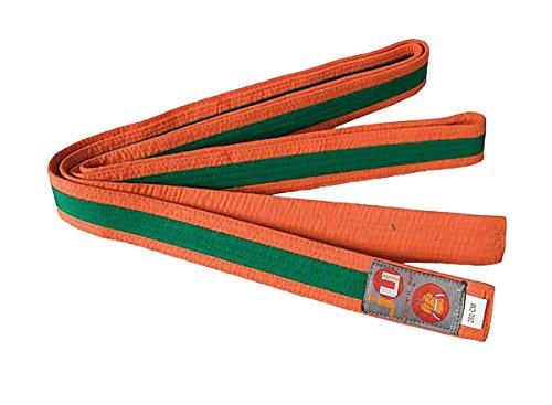 Ju-Sports Budogürtel Gürtel, Orange/Grün, 320