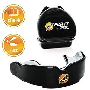 FIGHT MIND Profi Mundschutz – Sport Zahnschutz | + E-Book + max. O₂ + BPA freier Zahnschutz | Boxen, MMA, Krav MAGA