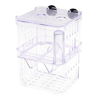 DealMux Clear Plastic Retangle Shape Seperate Fish Fry FOKKEN Divider Tank Aquarium 14