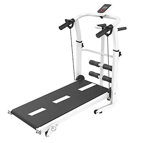 Laufbänder Mechanisches Faltet Multifunktionales Rückseitiges Hause Mini-Fitnessgeräte (Color : Black, Size : 115x45x110cm)