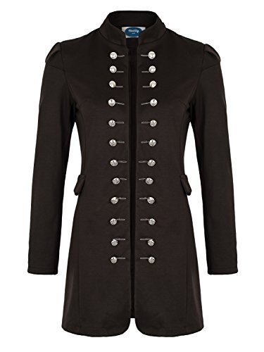 (4tuality AO Massimo Military Coat Slim Fit Gr. XXXL Braun)