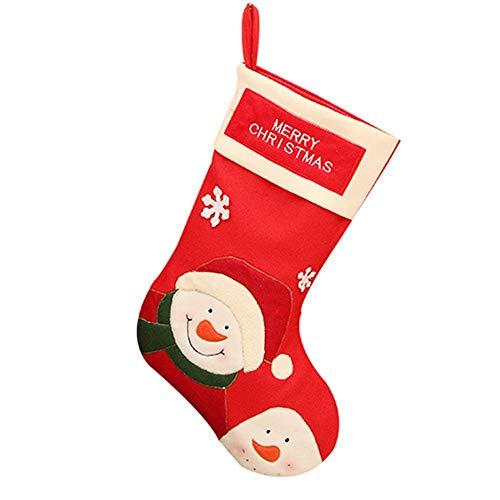 Calza di natale,calze da appendere calza natalizia in feltro da 45 cm perfetto per accessori da casa regali camino