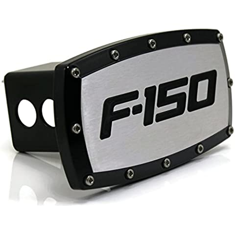 Ford F-150 2 Tow Hitch Cover Plug Engraved Billet Black Powder Coated by DanteGTS