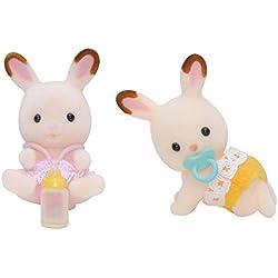 Sylvanian Families - Gemelos Conejo Chocolate (Epoch para Imaginar 5080)