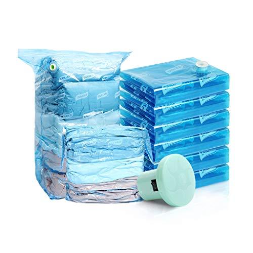 Sac de compression sous vide bleu Sac de rangement Sac de couette Vêtement Penderie Paquet Artifact Grand Très Grand Sac de Rétrécissement Tridimensionnel