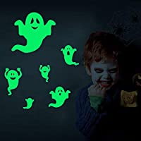 Stickers Glow in The Dark Halloween Wall Decals Party Decorations Window Stickers Ghost Horror Stickers for Kids Bedroom Decor Stickers Nursery Shop