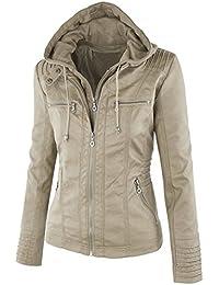 buy popular 76b81 2d296 Amazon.it: giacca ecopelle - Donna: Abbigliamento