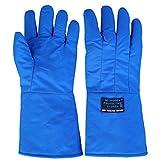 ZXW Handschuh- Schutzhandschuhe Beständig gegen Tieftemperatur-Flüssigstickstoff-Antifrost Handschuhe LNG Refrigeration Trockeneis Warme Handschuhe (Farbe : Blau, größe : L38cm)