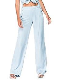 SALSA Pantalón muy ancho denim ligero