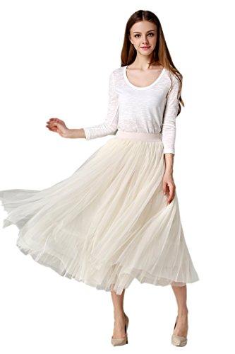 Honeystore Damen's 1950's Knöchellänge Vintage Rockabilly Petticoat Retro Ballett Tutu Reifrock Unterrock Underskirt One Size Nackt