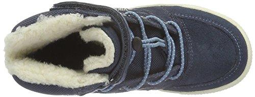 Viking Zing, Baskets Basses Mixte Enfant Bleu - Blau (Dark Blue/Mid Blue 7649)