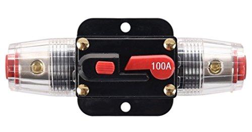 Wisamic 100A 100AMP Automatiksicherungshalter Sicherungshalter Halterung Automat 12V-24V DC -