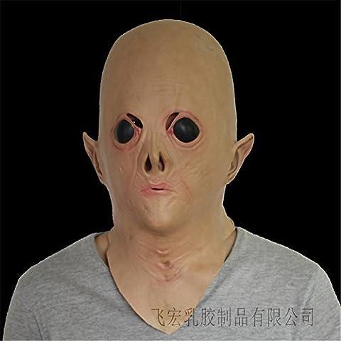 SQCOOL Halloween Alien Masken Party Puppen Make-up Tanz Latex Cosplay Kopf Set Funny Horror (Vampir Kostüm Diy)