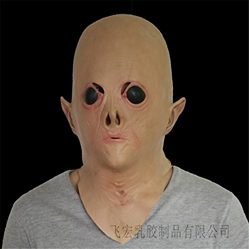 Diy Aliens Kostüm (SQCOOL Halloween Alien Masken Party Puppen Make-up Tanz Latex Cosplay Kopf Set Funny)