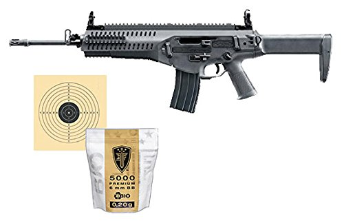 SET: Softair Gewehr Beretta ARX160 Advanced AEG elektrisch unter 0,5 Joule 6mm 7651 +ELITE FORCE PREMIUM BIO BB Softairkugeln weiß 6mm 0,20g 5000 BBs + G8DS® Zielscheibe