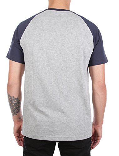 Iriedaily Herren T-Shirt Rugged Flag Tee - cara black grey-mel.